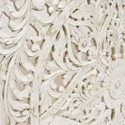 Mandala de madera blanc
