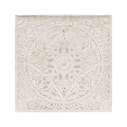 Mandala de madera blanco