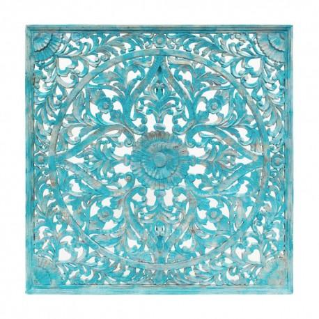 Mandala de madera celeste