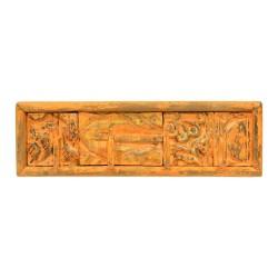 Percha de madera diseño plantillas naranja