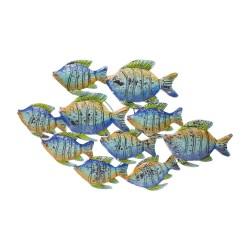 Banco de peces azul