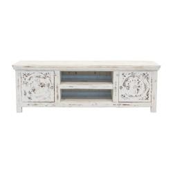 Mueble de televisión de madera blanco