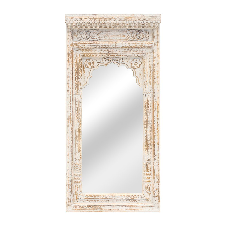 Espejo portada de madera acabado blanco