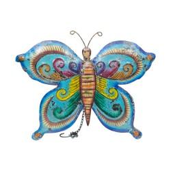 Mariposa de chapa tonos azules