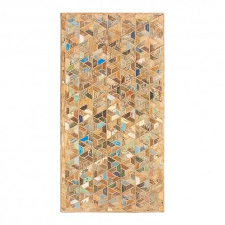 Panel de madera diseño en mosaico
