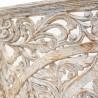 Panel mandala de madera gris