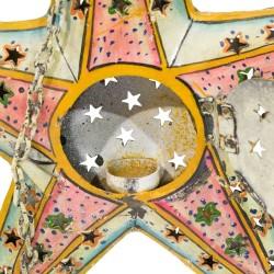 Candelabro de chapa con forma de estrella