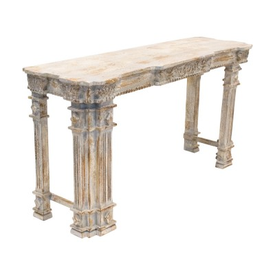 Consola de madera de estilo oriental