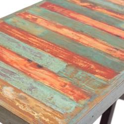 Consola de entrada de madera y forja