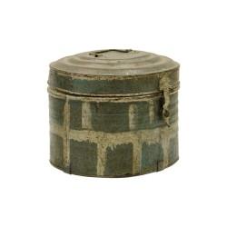 Caja de chapa ovalada vintage