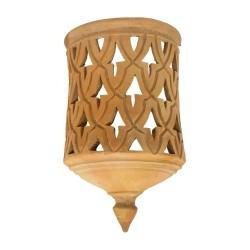 Aplique de cerámica calada