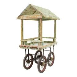Carrito madera con ruedas