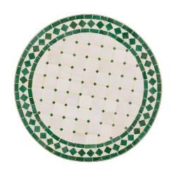 Mesa mosaico verde y blanca