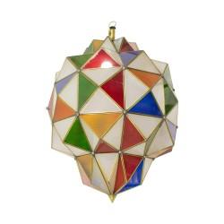 Farol geométrico cristales de colores