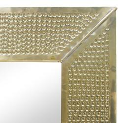 Espejo de metal dorado