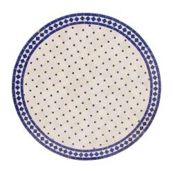 Mesa mosaico blanca y azul