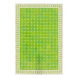 Mesa mosaico rectangular verde manzana y blanco