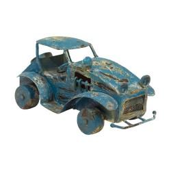 Coche metálico de estilo vintage azul