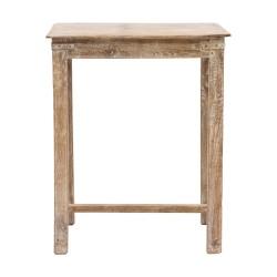 Mesa auxiliar madera acabado patinado