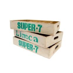 Bandeja madera etiquetas