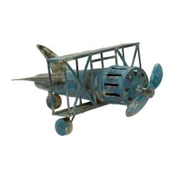 Avioneta de metal azul
