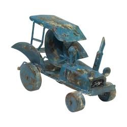 Tractor vintage azul