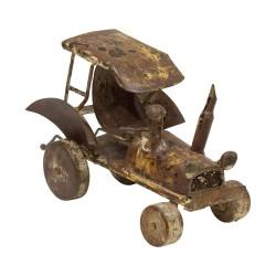 Tractor vintage marrón