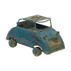 Coche metálico vintage azul