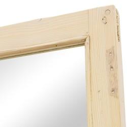 Espejo puerta antigua madera acabado crema