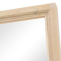 Espejo madera puerta antigua color crema
