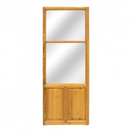Espejo puerta antigua madera
