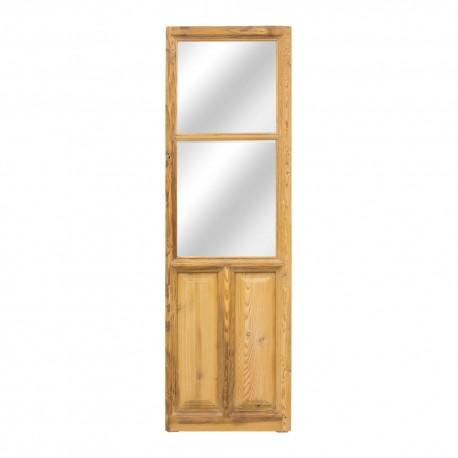Espejo puerta madera antigua estrecho