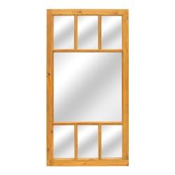 Espejo puerta antigua de madera con palillería