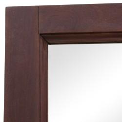 Espejo puerta antigua madera nogal