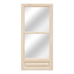 Espejo puerta antigua madera con cuarterón