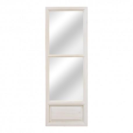 Espejo estrecho puerta antigua de madera