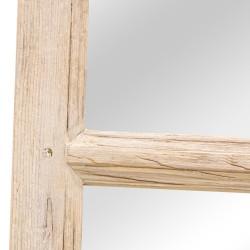Espejo hoja puerta antigua madera