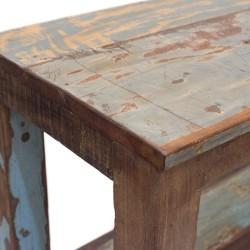 Estantería de madera acabado restos pintura azul