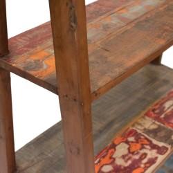Estantería escalera madera acabado colores