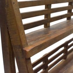 Estantería escalera madera con palillería