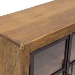 Aparador de madera y metal