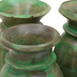 Jarrón de madera verde verde