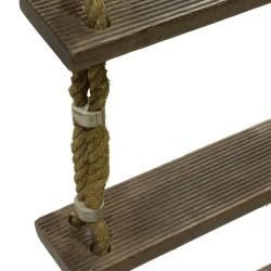Estantería escalera de madera y cuerda