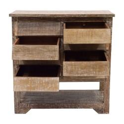Cómoda de madera estilo vintage