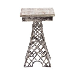 Mesita auxiliar Eiffel acabado gris