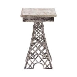 Mesita auxiliar Eiffel acabado gris
