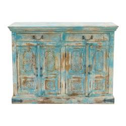 Aparador de madera vintage azul