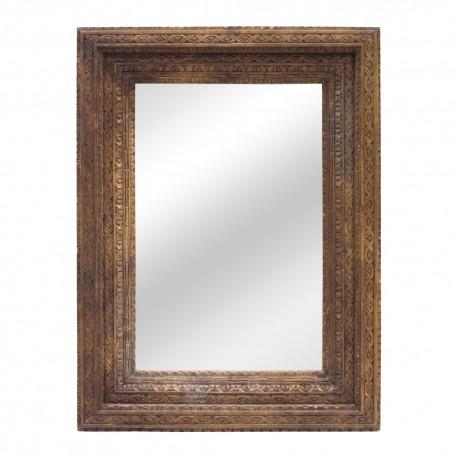 Espejo madera tallada