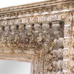 Espejo marco de madera gris