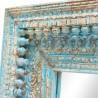 Espejo marco de madera azul